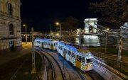 budapest noel trams illuminés