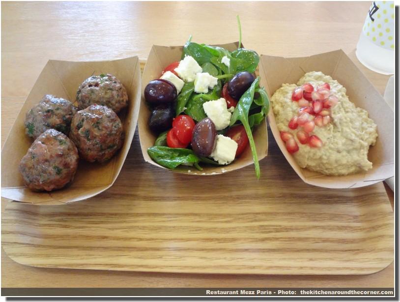 restaurant mezz paris 10 keftes salade