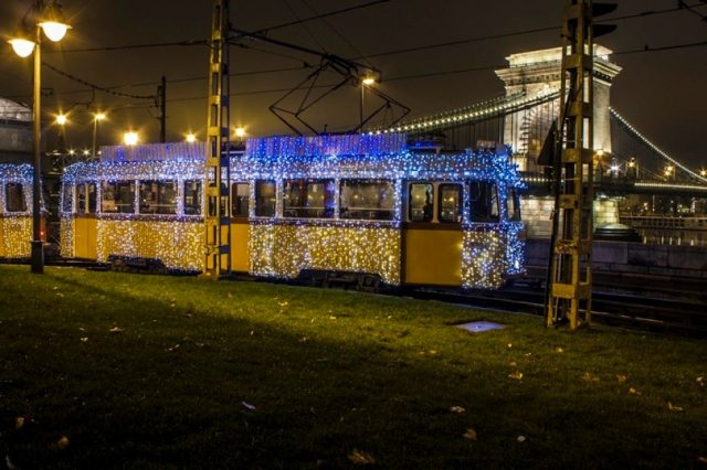 tramway de noel budapest