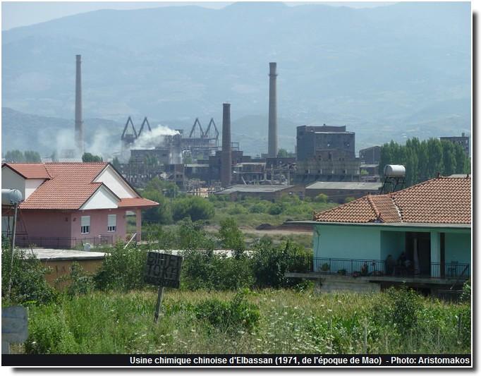 usine chimique chinoise Elbassan