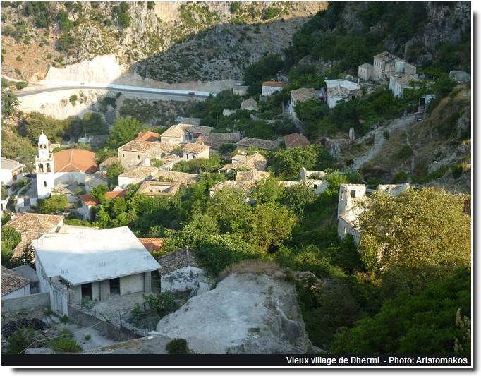vieux village de Dhermi Albanie