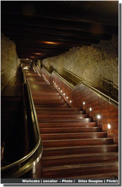 Mine de sel wieliczka escalier