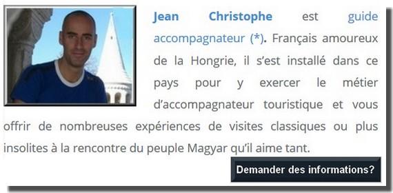 demander des informations à jean christophe guide francophone budapest