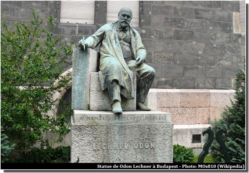 Statue Odon Lechner Budapest