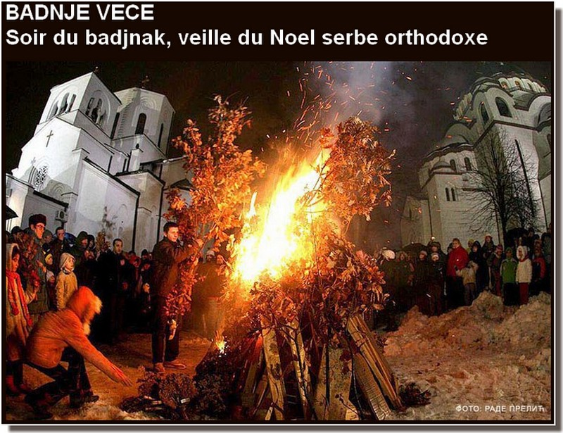 badnji dan noel orthodoxe en serbie