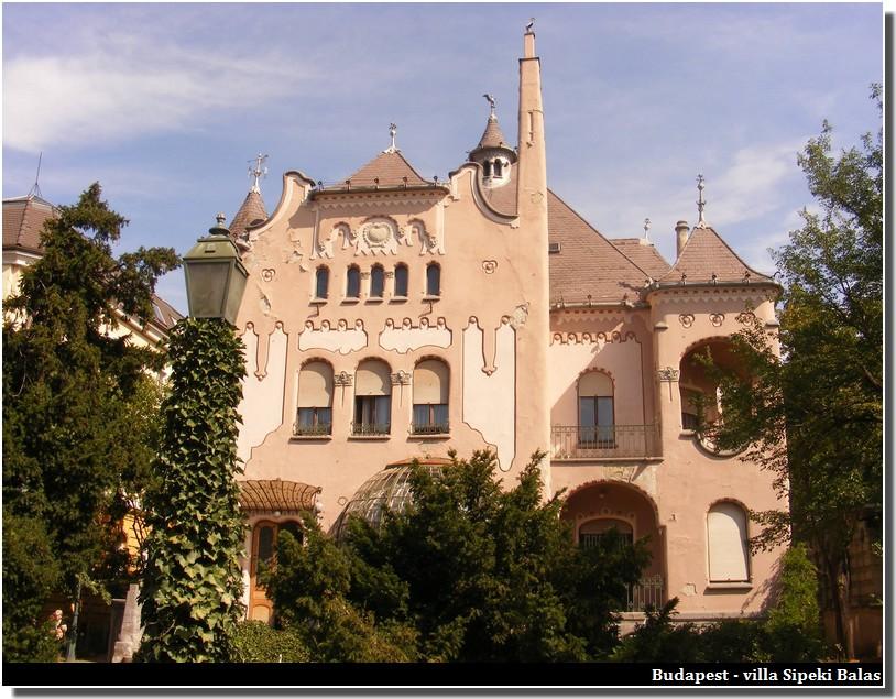 budapest villa Sipeki Balas