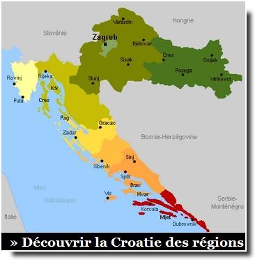 découvrir la Croatie des régions