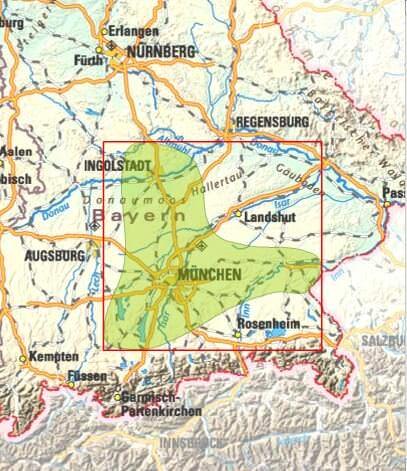 carte haute baviere oberbayern