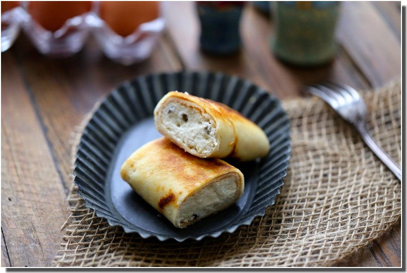 recette russe Blinchiki fromage blanc raisins