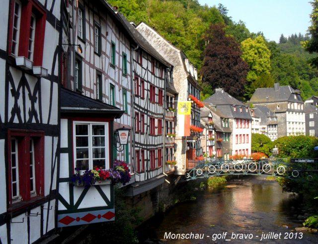 Ardenne belge monschau maisons