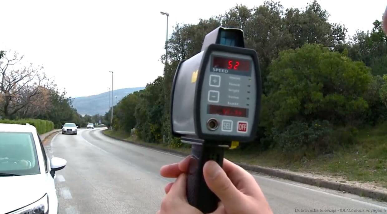 controle des excès de vitesse en Croatie policija