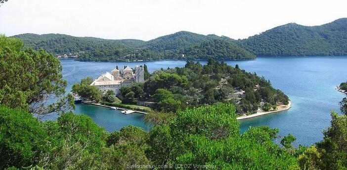 ile mljet lac veliko jezero monastère sainte marie