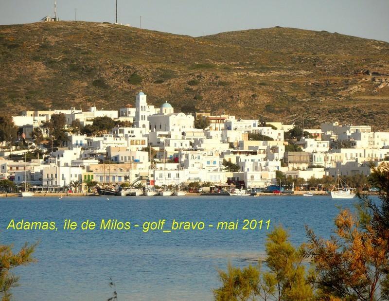 Adamas Ile de Milos en Grece