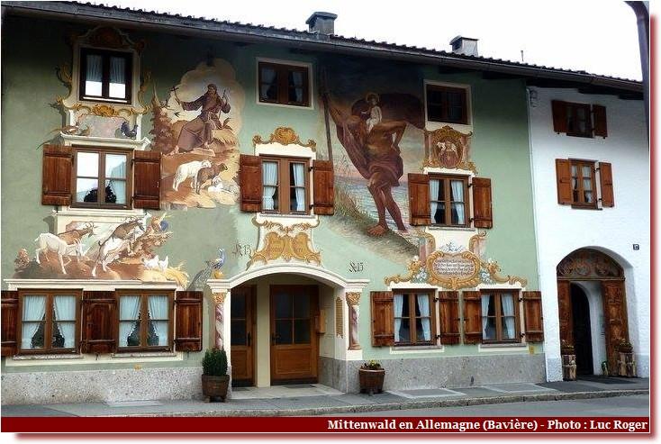 Luftlmalerei mittenwald en bavi re superbes fa ades orn es - Sorte de peinture pour maison ...