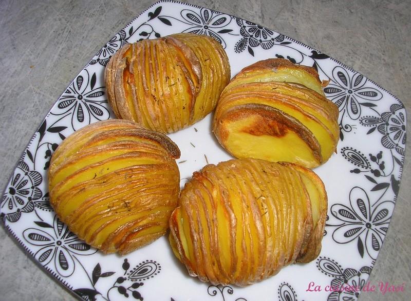 hasselbackspotatis pommes de terre hasselback recette suédoise