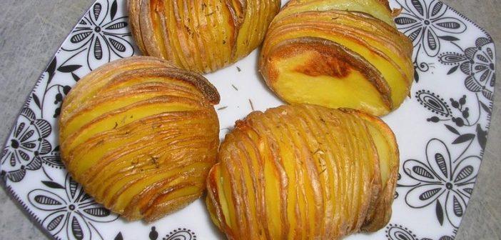 Hasselbackspotatis : recette suedoise de Pommes de terre rôties