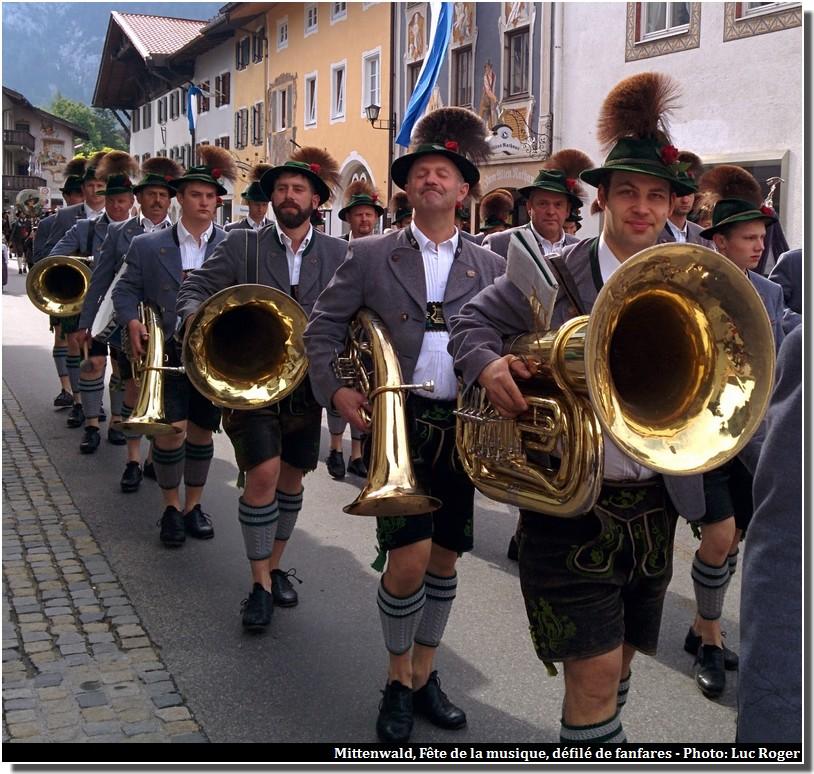 mittenwald baviere fete de la musique fanfares