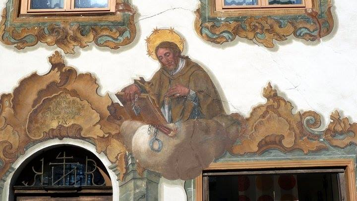 mittenwald façade décorée décors religieux