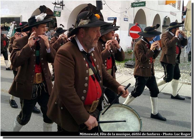 mittenwald fete de la musique fanfares tambour