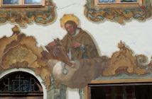 mittenwald luftlmalerei scène religieuse