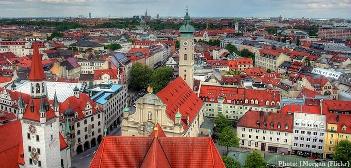 Munich Altstadt vue aerienne