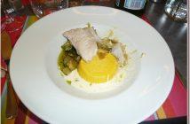 Restaurant le Four Castelnaudary Lieu jaune et polenta