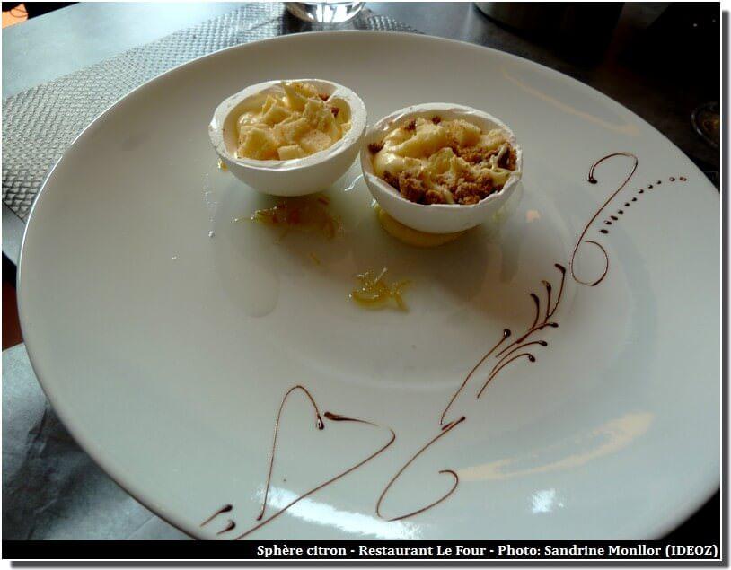 Restaurant le Four Castelnaudary Sphère au Citron