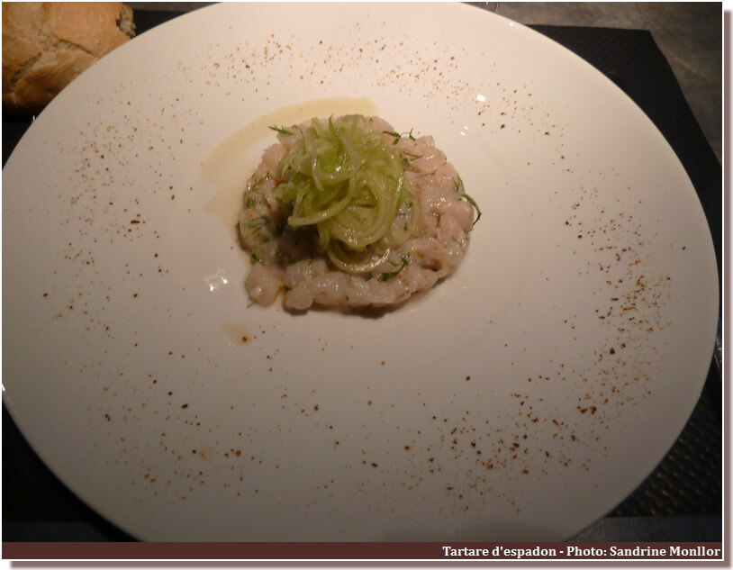 Restaurant le Four Castelnaudary tartare d'espadon