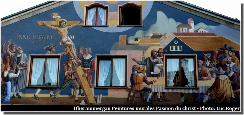 Oberammergau peintures murales passion du christ