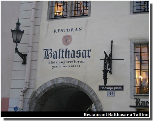 balthasar restaurants à tallinn estonie