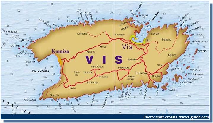 carte ile de vis croatie