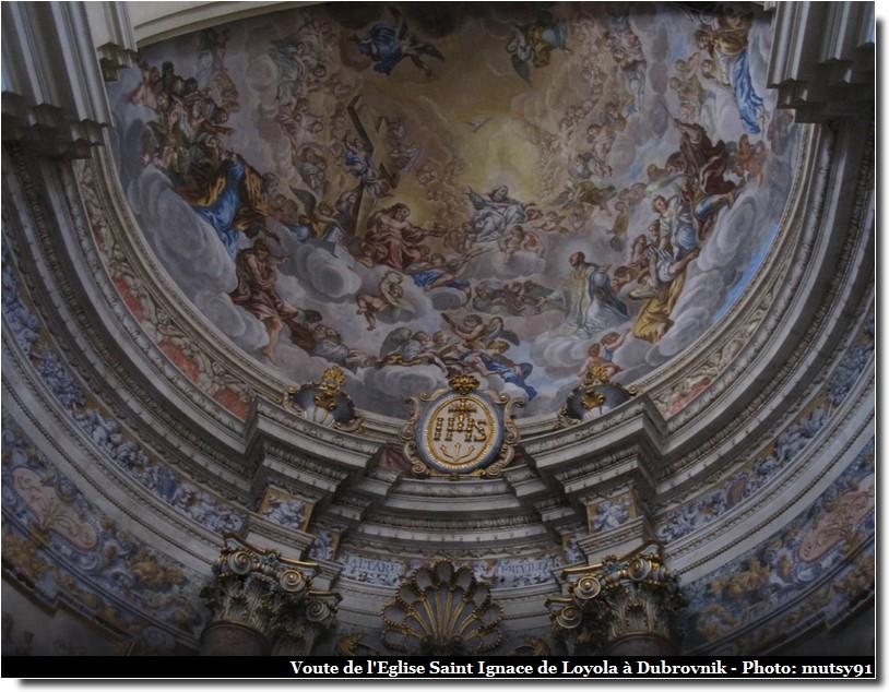 dubrovnik eglise saint ignace de loyola voute