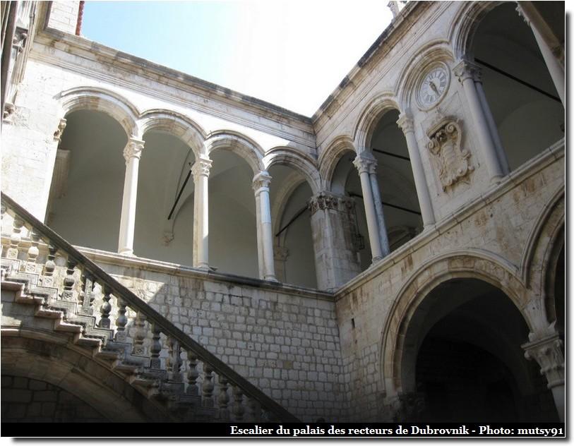 dubrovnik palais des recteurs escaliers