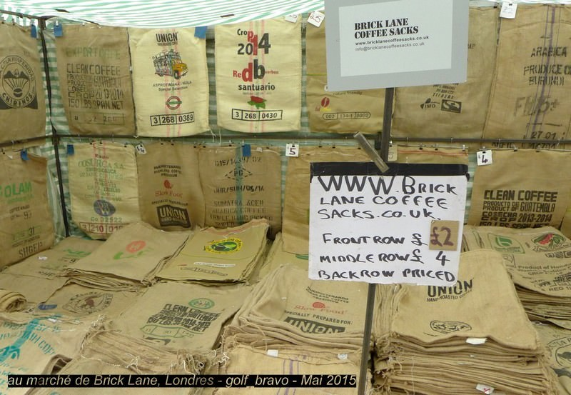 Londres brickLane Coffee Sacks
