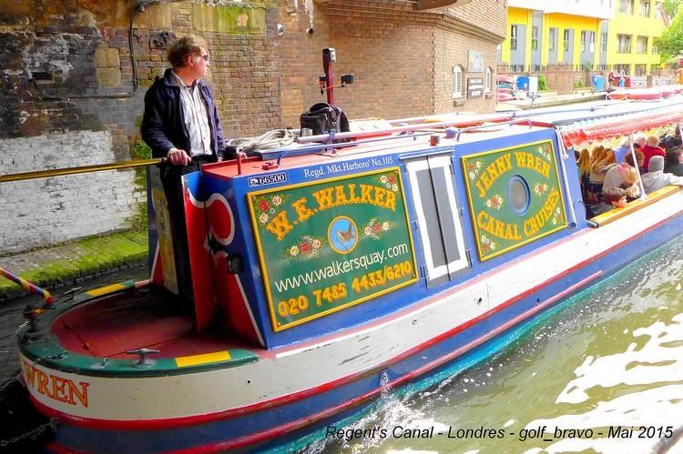 Londres Regents Canal peniche