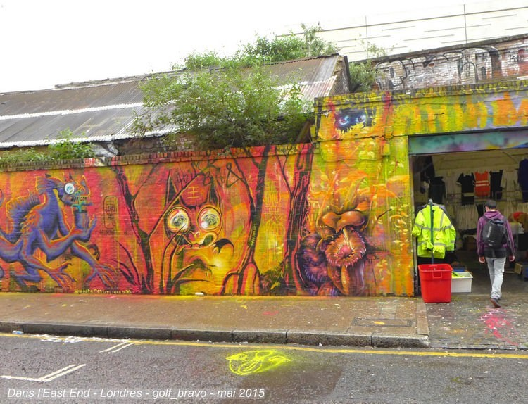 Londres east end mur peint street art