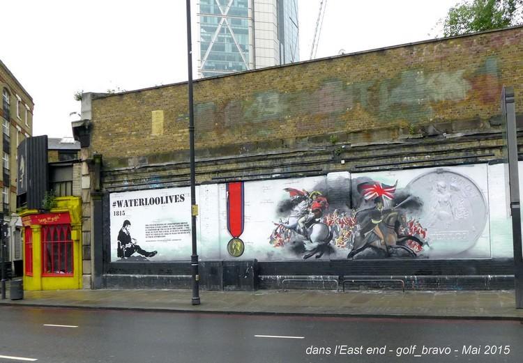 Londres east end mur peint