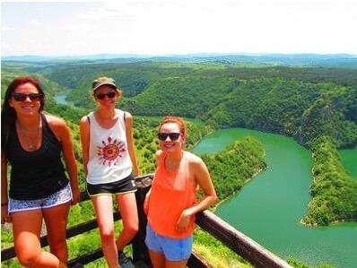 Visite des méandres d'Uvac depuis les hauteurs