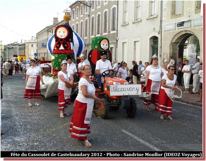 Fête du cassoulet de Castelnaudary char villasavary