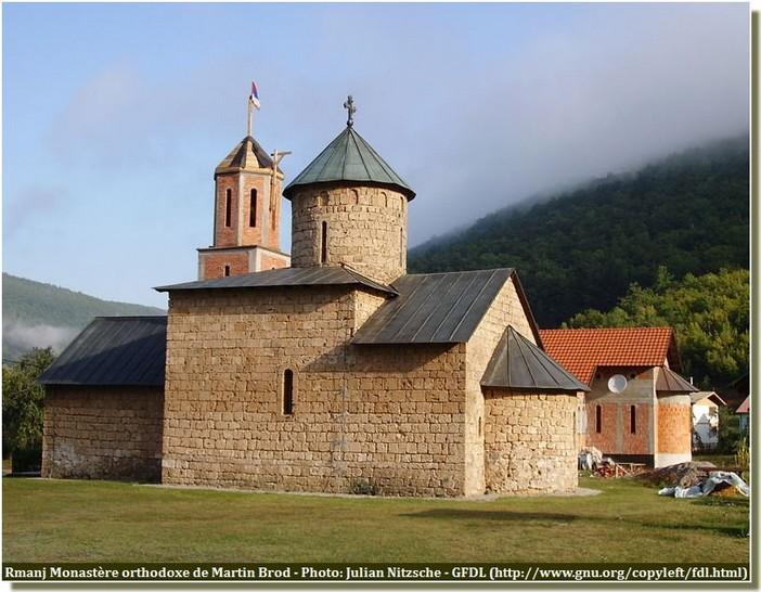 Monastère serbe orthodoxe Rmanj Martin Brod