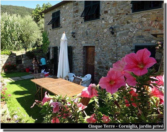 cinque terre corniglia jardin privé