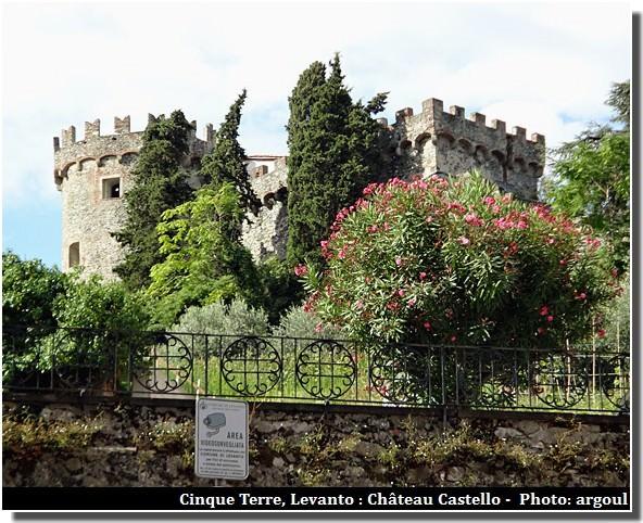 cinque terre levanto chateau castello