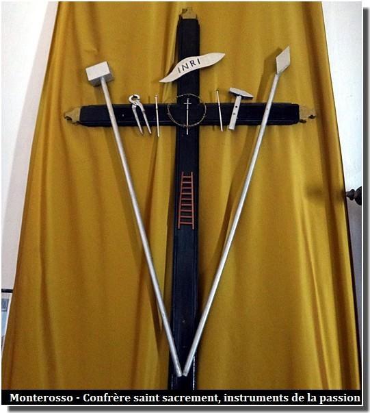 cinque terre monterosso confrerie saint sacrement instruments de la passion