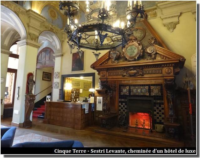 cinque terre sestri levante cheminee hotel de luxe