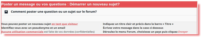 poster un message sur le forum
