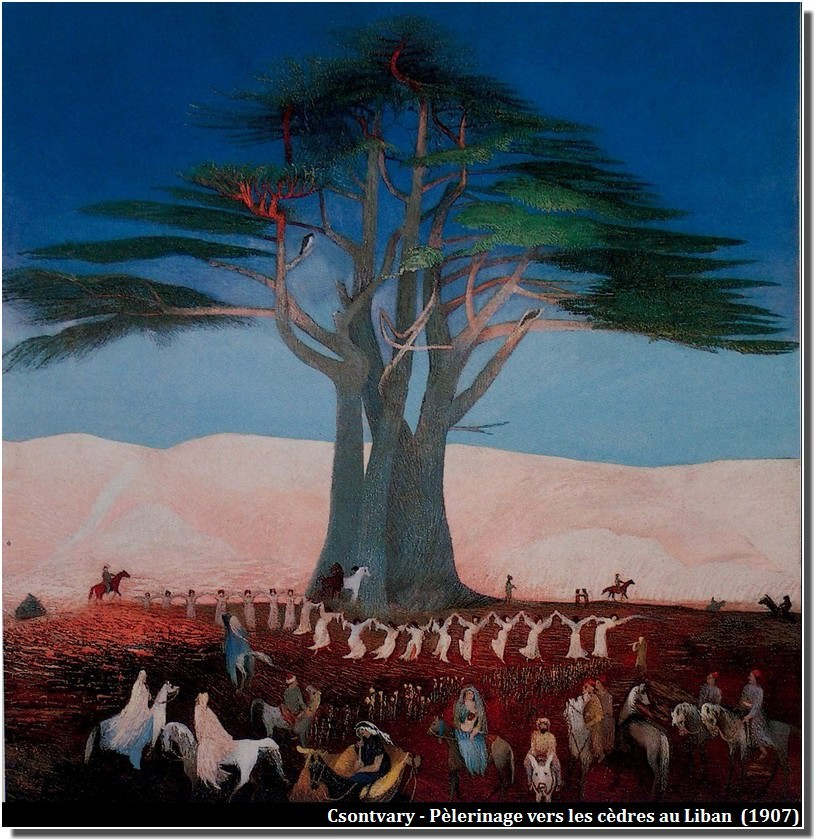 Csontvary Pèlerinage vers les cèdres, au Liban (1907)