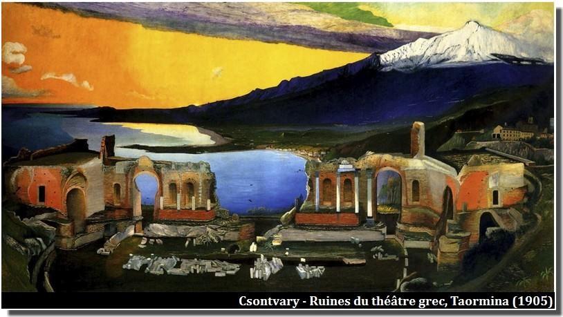 Csontvary Ruines du théâtre grec Taormina (1905)