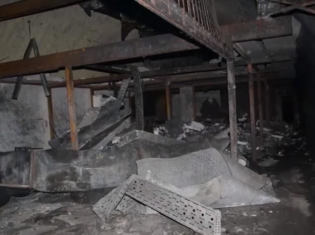 Destructions à l'intérieur de la base aérienne yougoslave de Zeljava