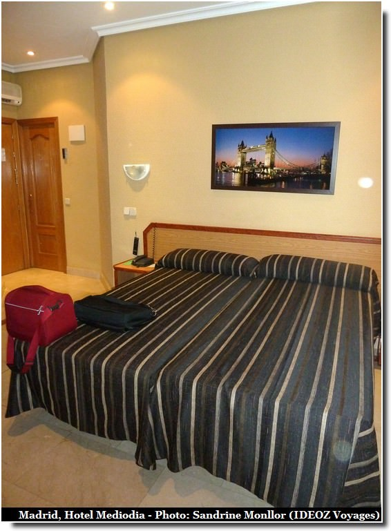 Hotel mediodia madrid pas cher satisfaisant tr s bien for Chambre trop seche
