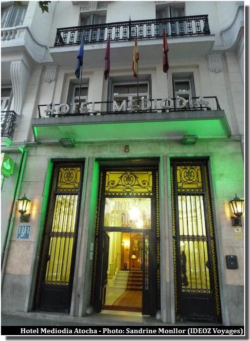 madrid Hotel mediodia Atocha entrée